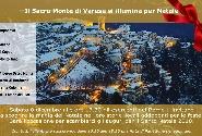 Il Sacro Monte di Varese si illumina per Natale